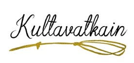 Kahvila Kultavatkain -logo. 2019